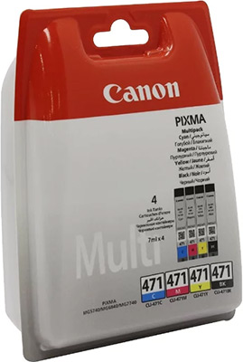цены Набор картриджей Canon CLI-471 BK/C/M/Y 0401 C 004
