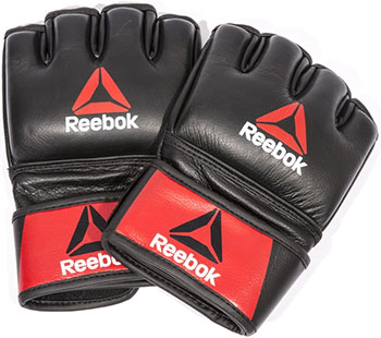 Перчатки для MMA Reebok Combat Leather Glove - Small RSCB-10310RDBK