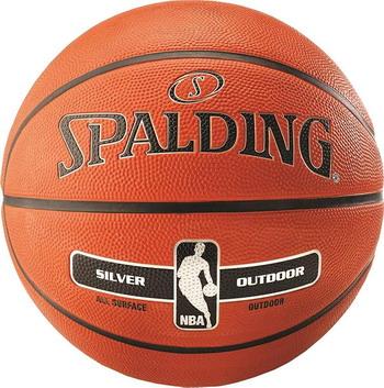 Мяч Spalding NBA Silver с логотипом NBA 83016 мяч баскетбольный spalding tf 500 perfarmance