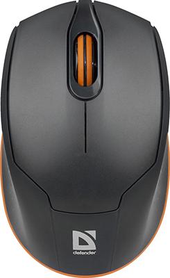 лучшая цена Мышь Defender Genesis MB-865 серый/оранжевый (52868)