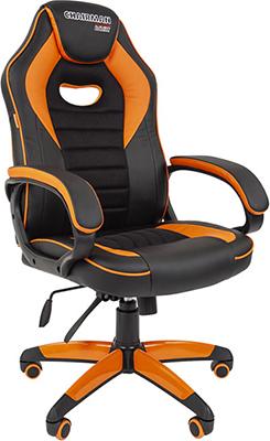 Кресло Chairman game 16 экопремиум черный/оранжевый 00-07024555 кресло chairman game 16 экопремиум черный желтый 00 07028514