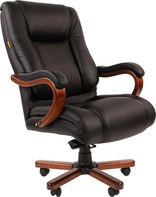 Кресло Chairman 503 кожа черн. 00-07029379 цена 2017