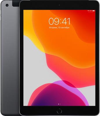 Планшет Apple iPad (2019) 10 2'' Wi-Fi + Cellular 128 ГБ серый космос (MW6E2RU/A) планшет apple ipad mini 2019 256gb wi fi cellular space grey