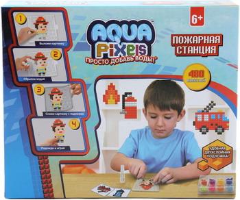 Набор для творчества 1 Toy Aqua Pixels квадрат. детали 480 дет ''Пожарная станция'' Т13071 набор пазлов пожарная бригада 2 х 24 детали