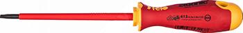 Диэлектрическая отвертка Felo Ergonic плоская шлицевая 4 5X1 0X125 41304590 отвертка felo ergonic плоская шлицевая 5 5x1 0x150 40055510