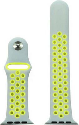 Ремешок для часов Eva для Apple Watch 42mm Серый/Желтый (AWA012WY) ремешок спортивный eva для apple watch 38mm белый желтый ava012wy