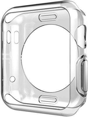Чехол силиконовый Eva для Apple Watch 40mm - Прозрачный (AFC005T)