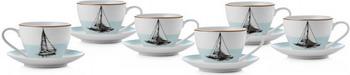 Чайный набор на 6 персон Esprado Regata 315 мл/14 5 см голубой (RGT031BE304)