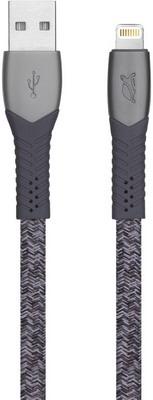 Фото - Кабель Rivacase MFi Lightning 1.2м серый PS6101 GR12 кабель ubear mfi kevlar metal cable usb lightning dc06sl01 l silver