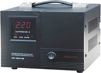 Стабилизатор напряжения Ресанта ACH - 1 500/1 - ЭМ стабилизатор ресанта ach 500 н 1ц