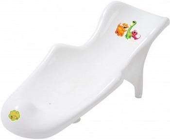 Горка для ванны Maltex Динозаврики с противоскользящим ковриком белый цена и фото