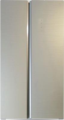 Холодильник Side by Side Ginzzu NFK-605 шампань холодильник side by side ginzzu nfk 530 черный