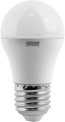 Лампа GAUSS LED Elementary Globe 6W E 27 4100 K 53226 лампа gauss led elementary globe 6w e 27 2700 k 53216
