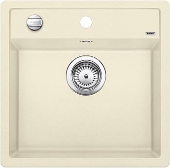 Кухонная мойка BLANCO DALAGO 5-F SILGRANIT жасмин с клапаном-автоматом кухонная мойка blanco dalago 5 f silgranit кофе с клапаном автоматом