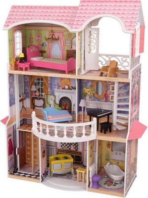 Кукольный дом KidKraft Магнолия с мебелью 13 предметов 65839_KE кукольный домик kidkraft для барби аннабель с мебелью в подарочной упаковке
