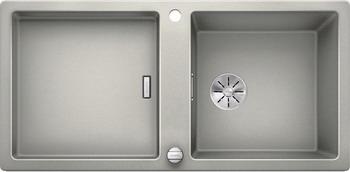 Кухонная мойка Blanco ADON XL 6S SILGRANIT жемчужный с кл.-авт. InFino 523607