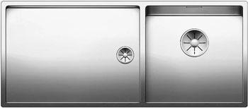 Кухонная мойка BLANCO CLARON 400/550-Т-IF (чаша справа) нерж. сталь зеркальная полировка 521600 кухонная мойка blanco claron 4s if а чаша справа нерж сталь зеркальная полировка 521623