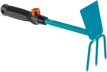 Мотыжка Gardena ручная 6.5 см с 3 зубцами (ручной садовый инструмент-насадка для комбисистемы) 08915-20