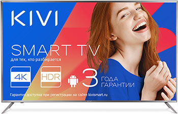 Фото - 4K (UHD) телевизор KIVI 55 UR 50 GR тумба с раковиной cersanit smart 55 корпус ясень фасад серый b su sma ca55 gr s um car55 1 w