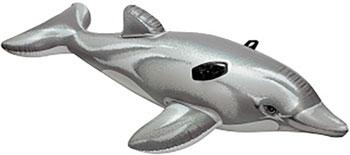 Надувная игрушка-наездник Intex 175х66см ''Дельфин'' от 3 лет 58535 надувная игрушка наездник intex краб 213х137см 57528