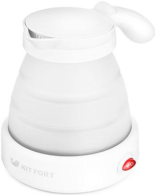 Чайник электрический Kitfort KT-667-1 белый чайник электрический kitfort кт 667 1 0 6л 1150вт белый