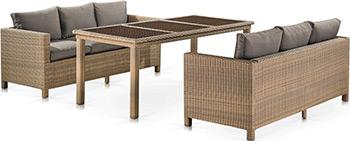 купить Комплект мебели Афина T365/S65B-W65 Light Brown по цене 113500 рублей