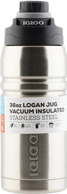 Термос Igloo из нержавеющей cтали ''Logan'' steel 1л термос igloo logan цвет синий 1 л
