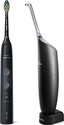 Набор ирригатор и электрическая зубная щетка Philips AirFloss Pro/Ultra и Sonicare HX8424/32 черный