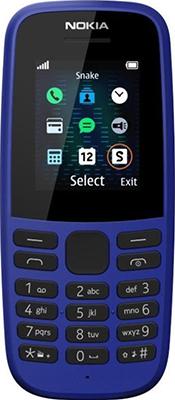 Мобильный телефон Nokia 105 SS (ТА-1203) Blue/голубой nokia 105 ss black