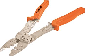 Инструмент для зачистки и обрезки проводов Truper 250 мм 17358 инструмент rexant ht s 501b tl s501b 12 4042 для зачистки и обрезки витой пары