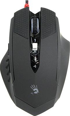 Мышь игровая проводная A4Tech Bloody T7 Winner черный/серый