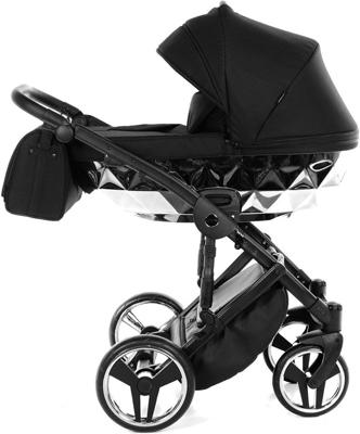 коляски 2 в 1 Коляска детская 2 в 1 Junama MIRROR JDMI-03 (черный/короб серебро)