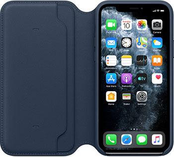Кожаный чехол Apple iPhone 11 Pro Leather Folio - Deep Sea Blue MY1L2ZM/A