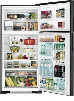 Двухкамерный холодильник Hitachi R-VG 662 PU3 GBK цена