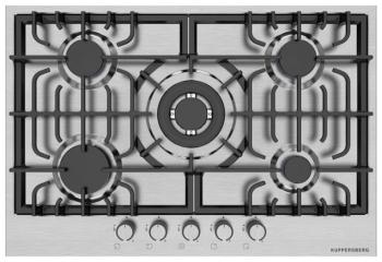 Встраиваемая газовая варочная панель Kuppersberg TS 79 X цена 2017