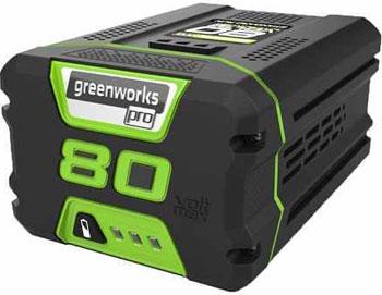 Литий-ионная аккумуляторная батарея Greenworks 80 V Digi-Pro Greenworks G 80 B4 2901307 аккумуляторный кусторез greenworks 80 v digi pro gd 80 ht без аккумулятора и зарядного устройства 2200607