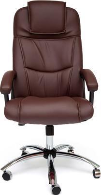 Офисное кресло Tetchair BERGAMO (хром) (кож/зам коричневый 36-36) кресло офисное руководителя tetchair ch 9944 пластик доступные цвета обивки искусств коричневая кожа