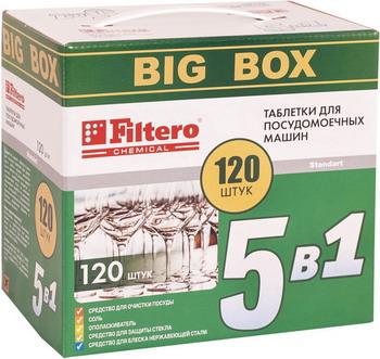 Таблетки Filtero 773 таблетки 5в1 filtero арт 773 для посудомоечных машин 120