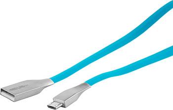 Кабель Red Line SMART HIGH SPEED USB-micro USB синий кабель dotfes usb micro usb a03m transparent 1 м gold