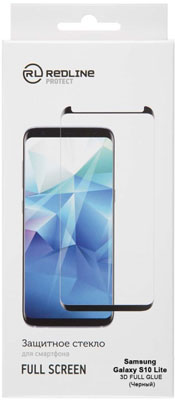 Защитное стекло Red Line Samsung Galaxy S10 lite Full Screen (3D) tempered glass FULL GLUE черный аксессуар защитное стекло для samsung galaxy s8 plus red line full screen 3d tempered glass black ут000010821