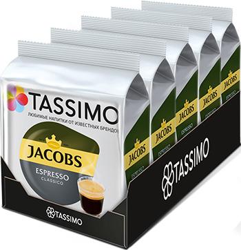 Набор кофе в капсулах Tassimo Jacobs Espresso x 5 шт.