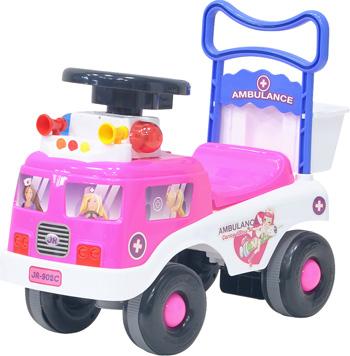 Детская каталка Everflo ''Скорая помощь'' ЕС-902 pink everflo каталка everflo машинка smart car m001 pink