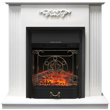 Каминокомплект Royal Flame Lumsden с очагом Majestic BLack (белый дуб) 64905925 цена