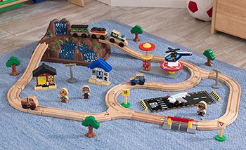 Железная дорога KidKraft Горная вершина 17826_KE железная дорога kidkraft игровой набор жд станция waterfall station train set