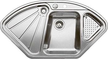 Кухонная мойка BLANCO 523667 DELTA-IF нерж. сталь зерк.полировка с клапаном-автоматом InFino мойка кухонная blanco lantos 9e if полированная нерж сталь с клапаном автоматом 516277
