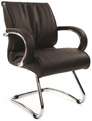 Офисное кресло Chairman 445 WD кожа черная