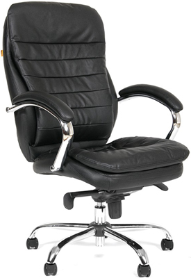 Офисное кресло Chairman Chairman 795 кожа черная фото