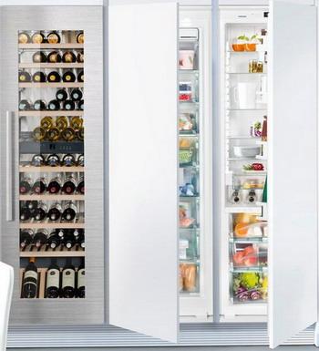 лучшая цена Встраиваемый холодильник Side by Side Liebherr SBS EWTdf 3553-20 + SIGN 3556-20 + IKB 3560-21