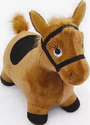 Лошадка-попрыгунчик Наша игрушка коричневая