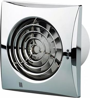 Вытяжной вентилятор Vents 150 Quiet хром 1F 00000009021 вентилятор 150 мм
